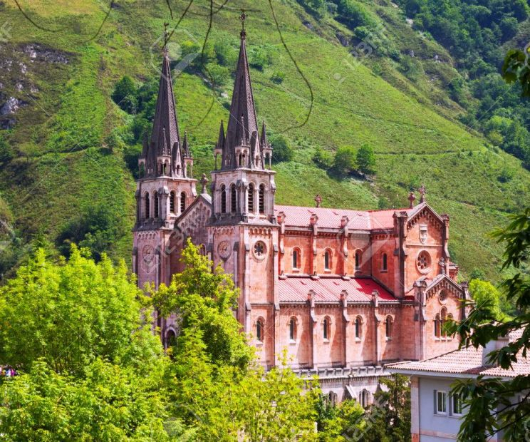 Summer View Of Sanctuary Of Covadonga