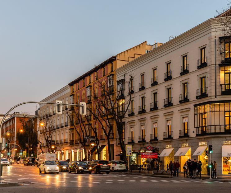 Esquina de la Calle Goya con la Calle Serrano